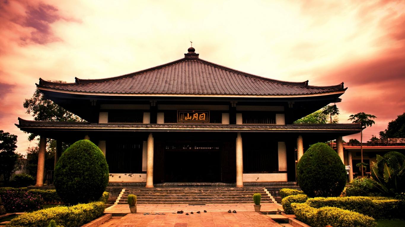 Modelo de casas de japon antiguas - 1366x768