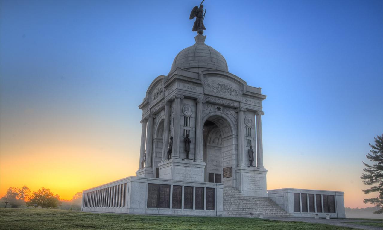 Monumento en Pennsylvania - 1280x768