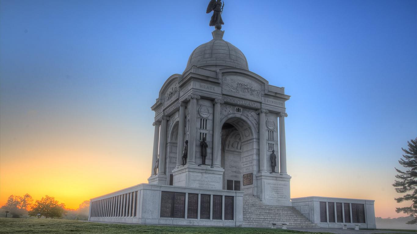 Monumento en Pennsylvania - 1366x768