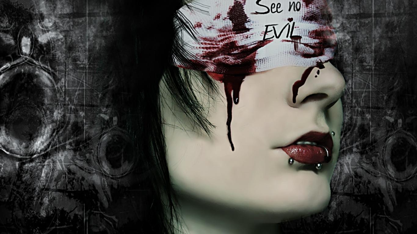 Mujer sangrando - 1366x768