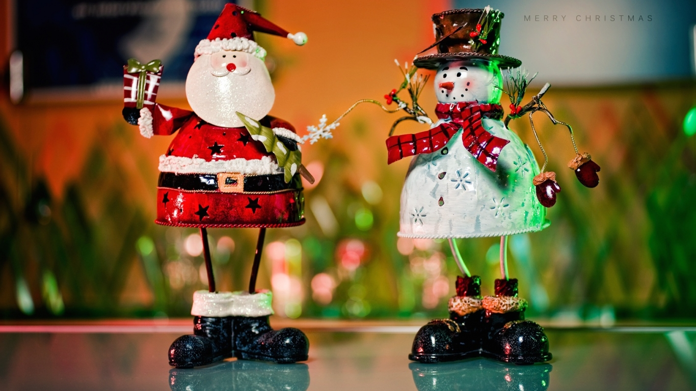 Muñecos de alambres para navidad - 1366x768