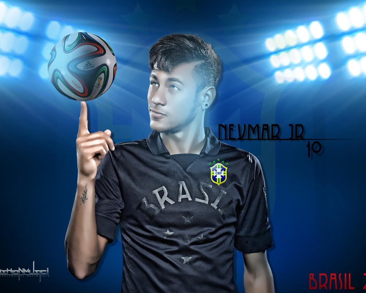 Neymar 10 - 1280x1024