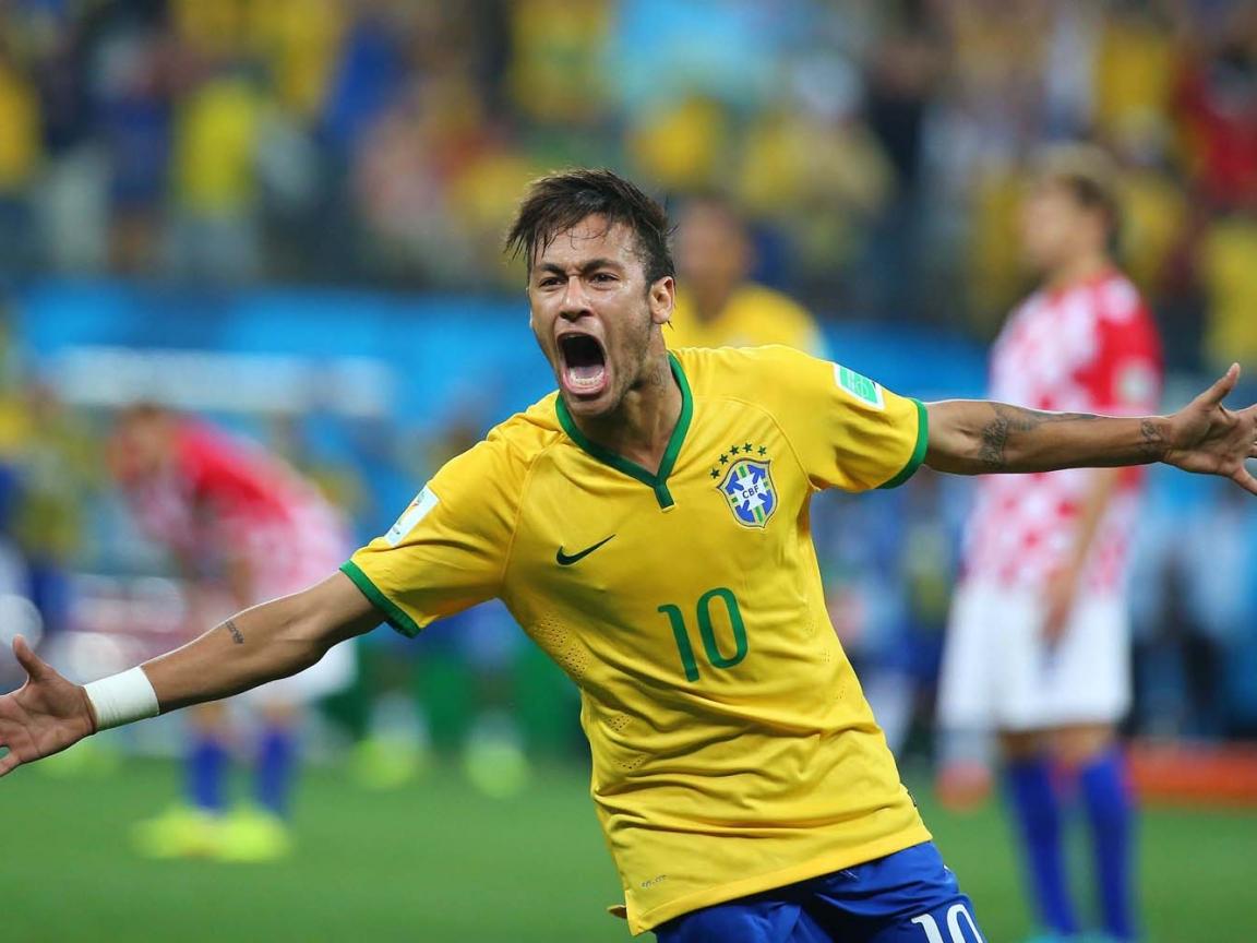 Neymar festejando gol - 1152x864