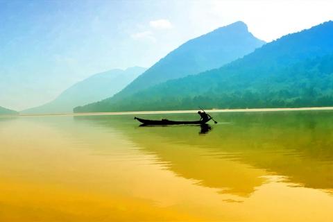 Pesca en un rio - 480x320