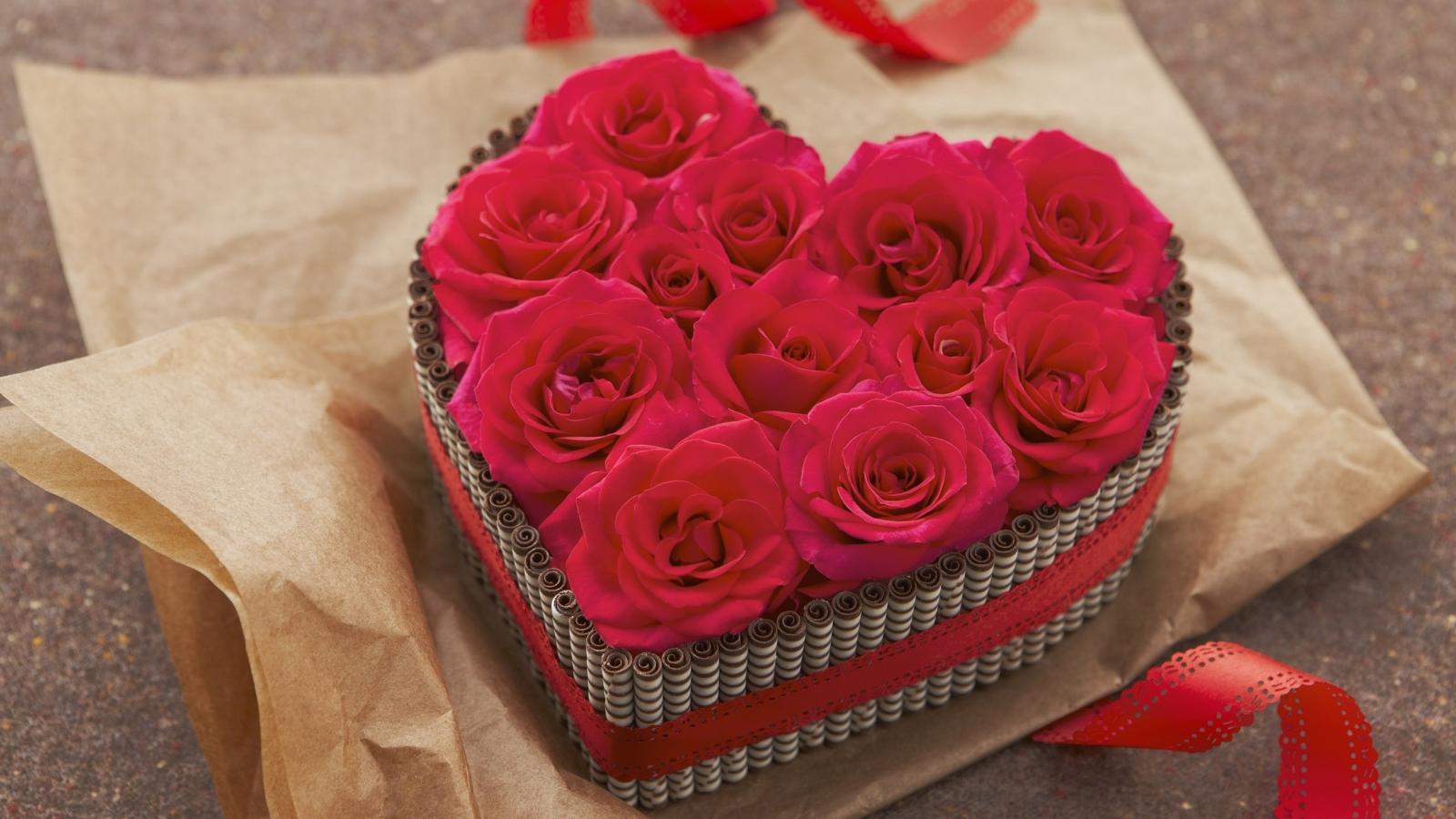 Regalo de rosas - 1600x900