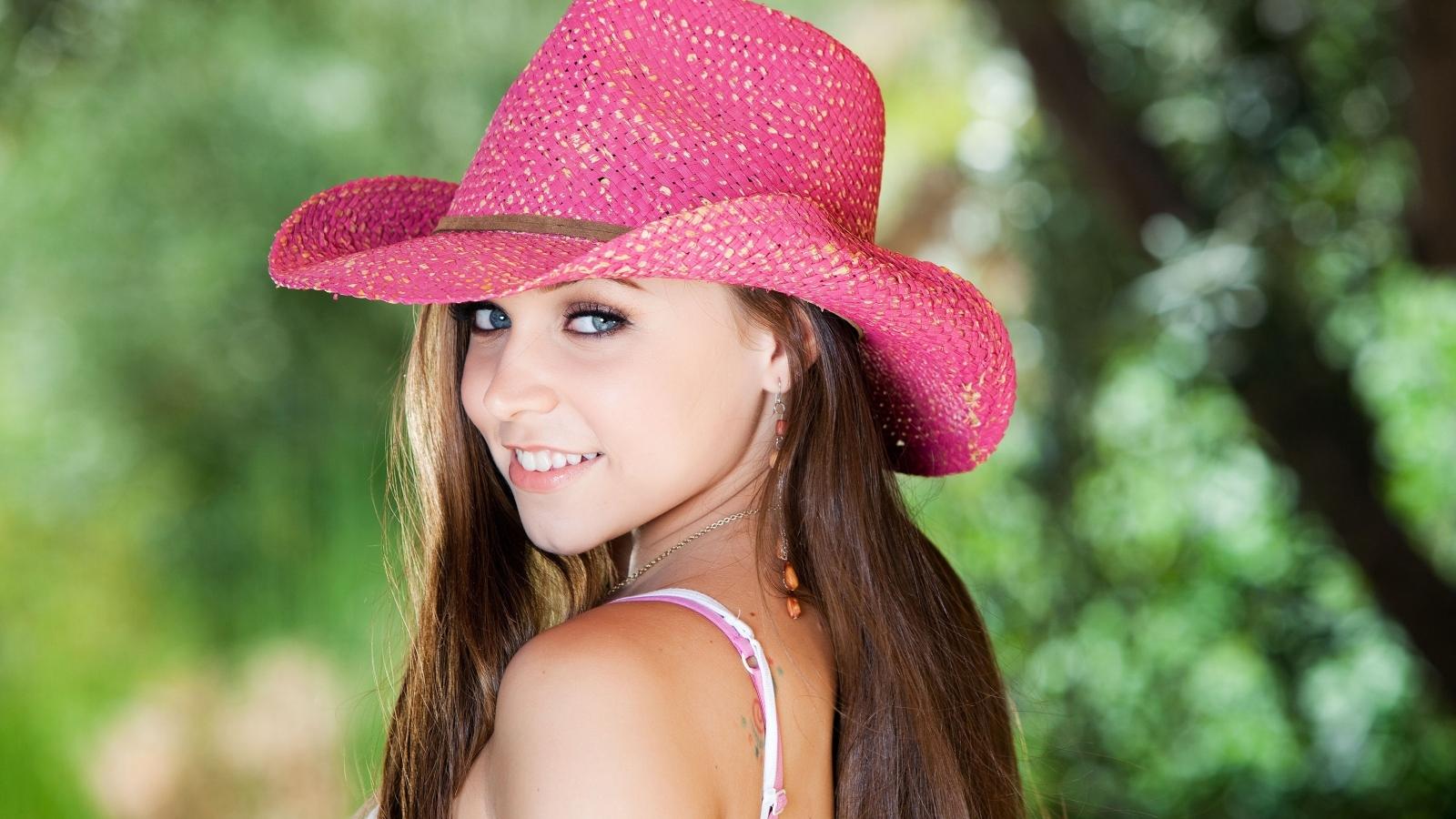 Sombrero rosado - 1600x900