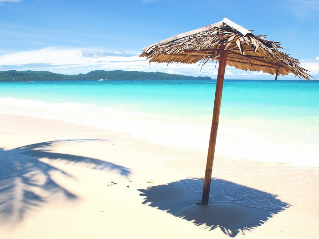 Sombrillas rusticas para playas - 1024x768
