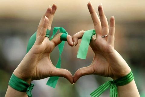 Un corazón para el equipo verde - 480x320