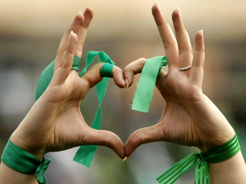 Un corazón para el equipo verde - 800x600