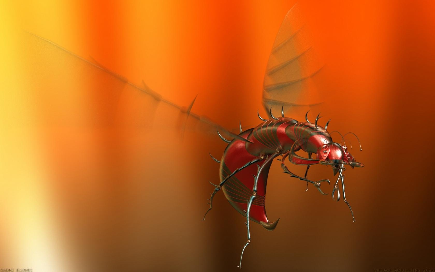 3d Wallpaper Hd 1680x1050: Un Insecto 3D Hd 1680x1050