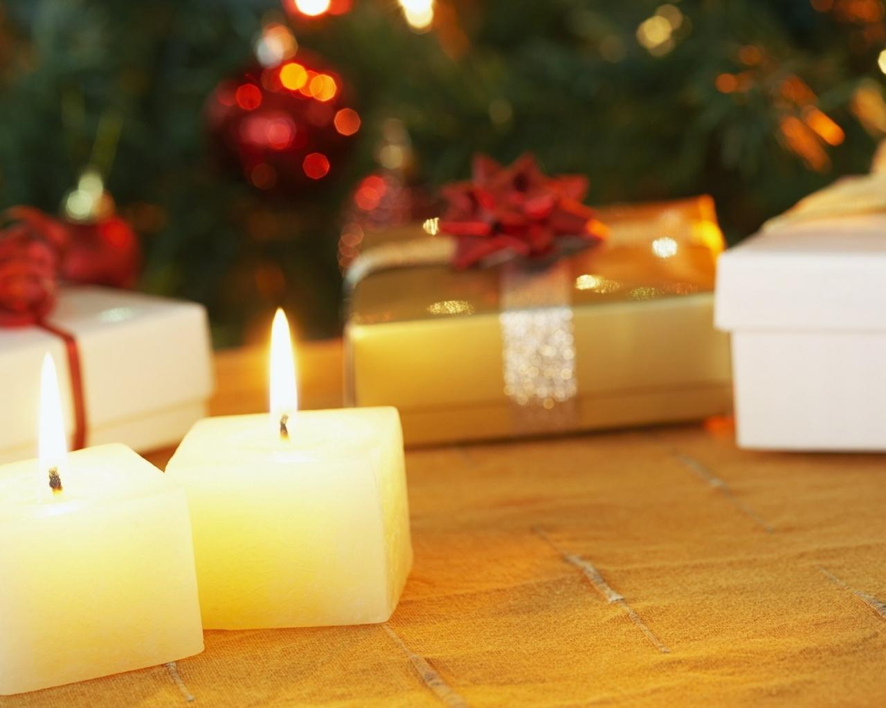 Velas cuadradas como adornos en navidad hd 1280x1024 - Velas de adorno ...