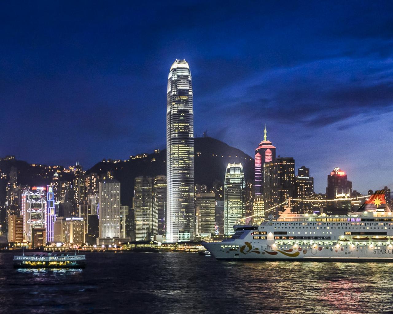 Victoria Harbour, Hong Kong - 1280x1024