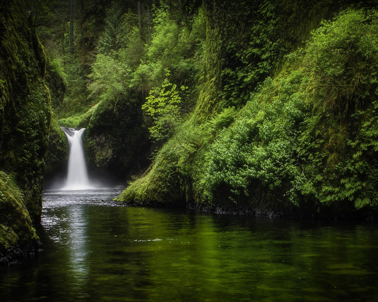 Bella caida de agua - 1280x1024
