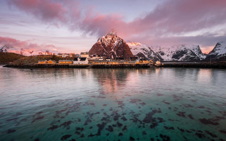Cordillera blanca y el lago - 1440x900