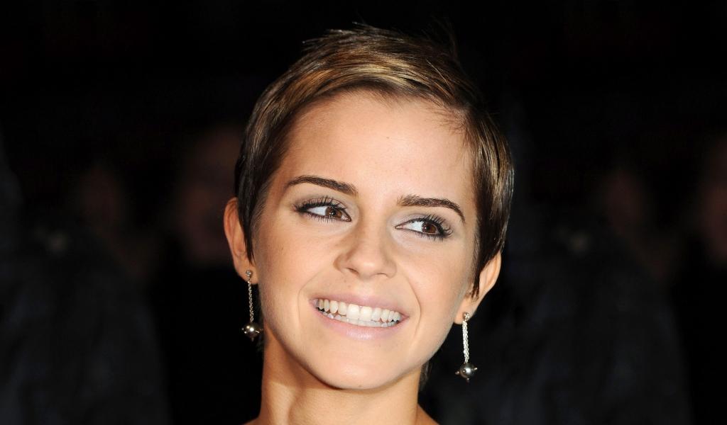 Emma Watson con una bella sonrisa - 1024x600