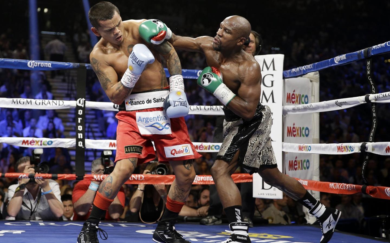 Floyd Mayweather peleando - 1440x900