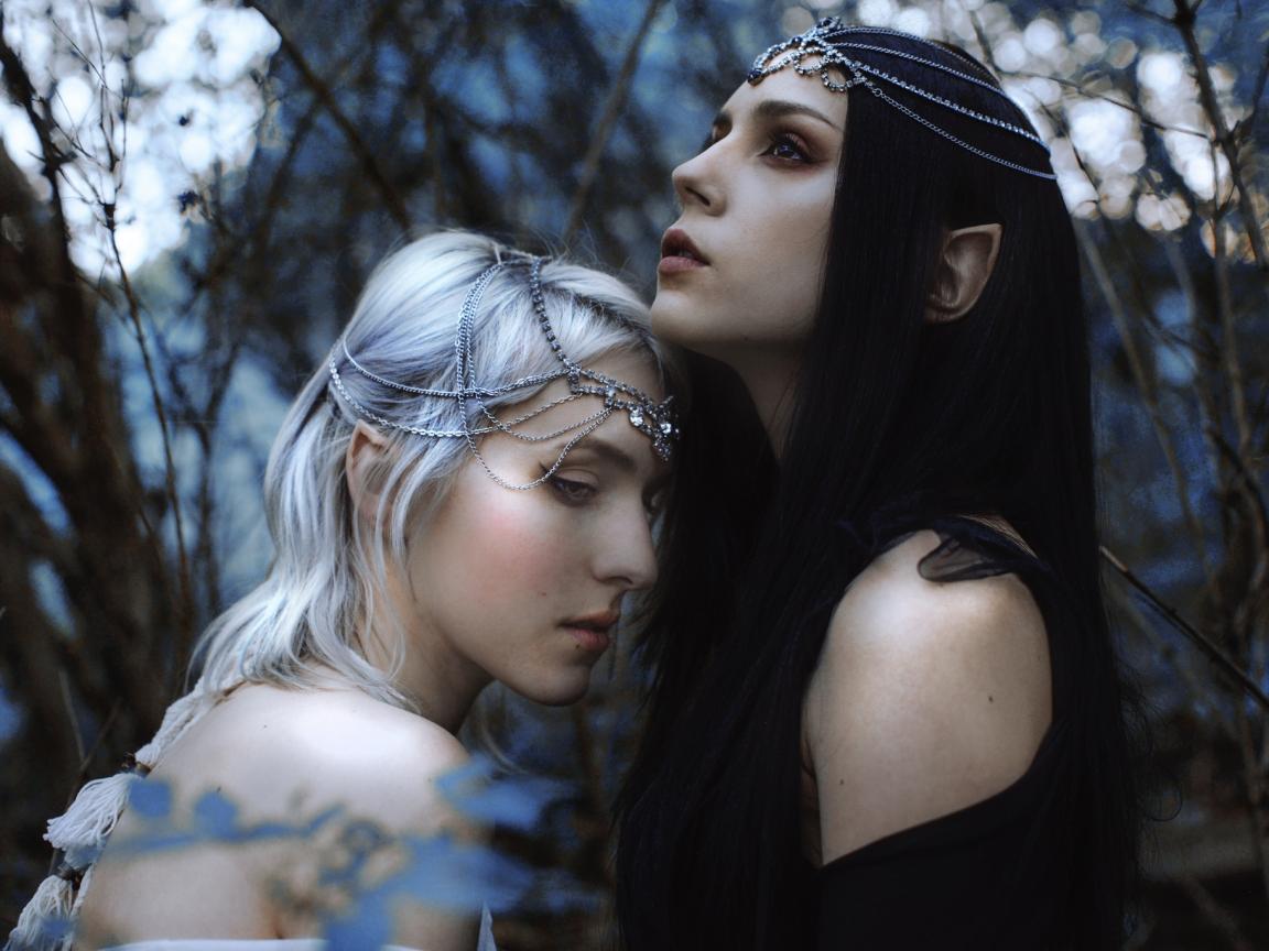 Hermosas elfos chicas 3D - 1152x864