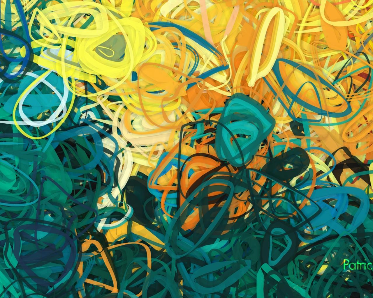 Lineas circulares abstracto - 1280x1024