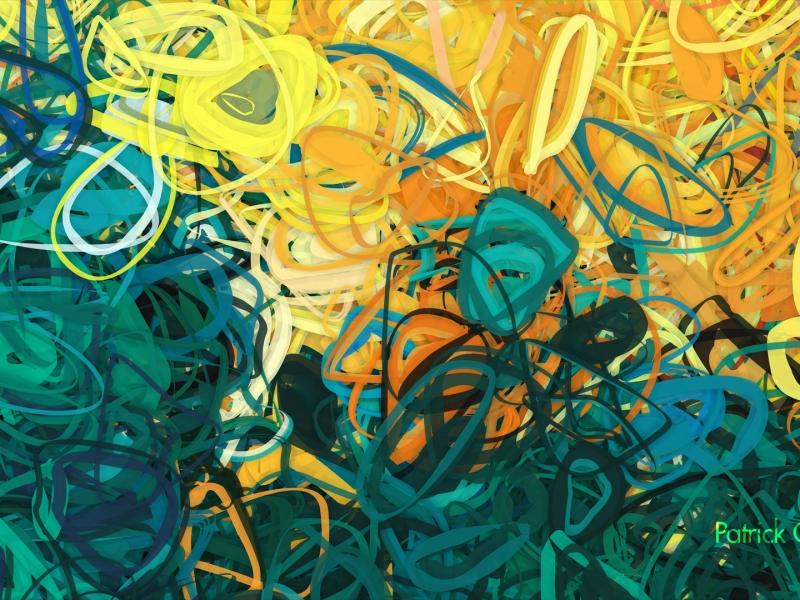 Lineas circulares abstracto - 800x600