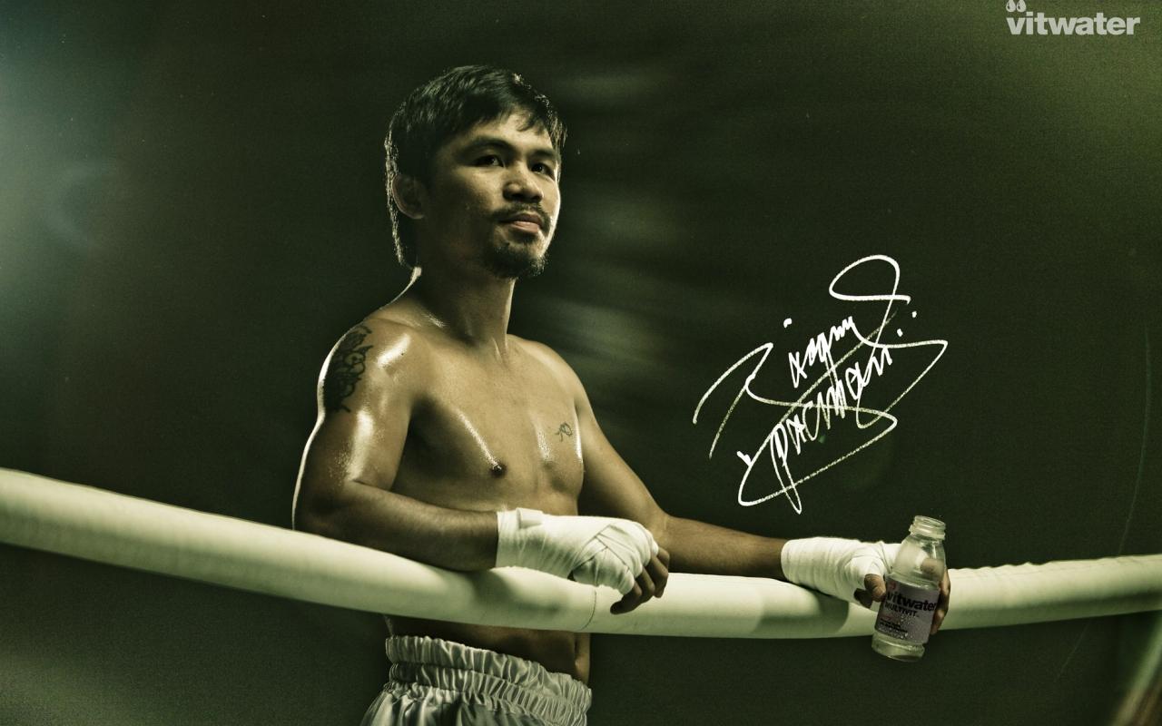 Manny Pacquiao en el ring - 1280x800