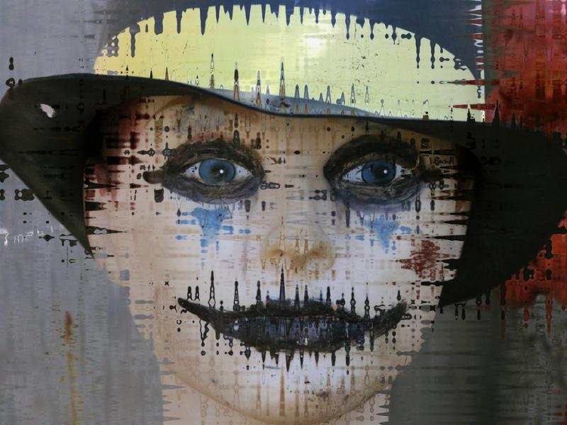 Rostro abstracto pinturas - 800x600