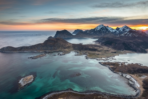 Fotografías aéreas de playas y montañas - 480x320