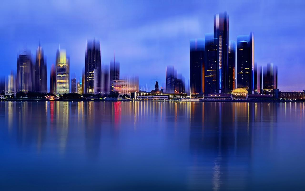 La ciudad de Detroit - 1280x800
