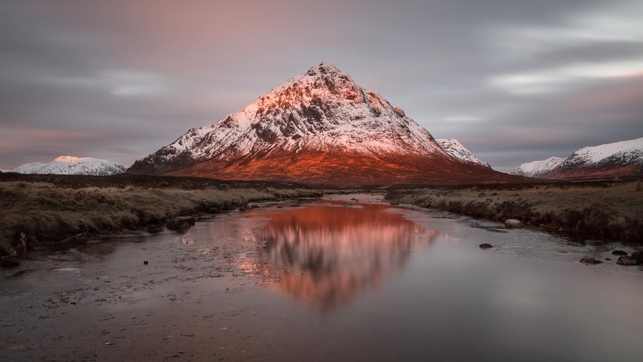 Montañas y lagos - 1280x720