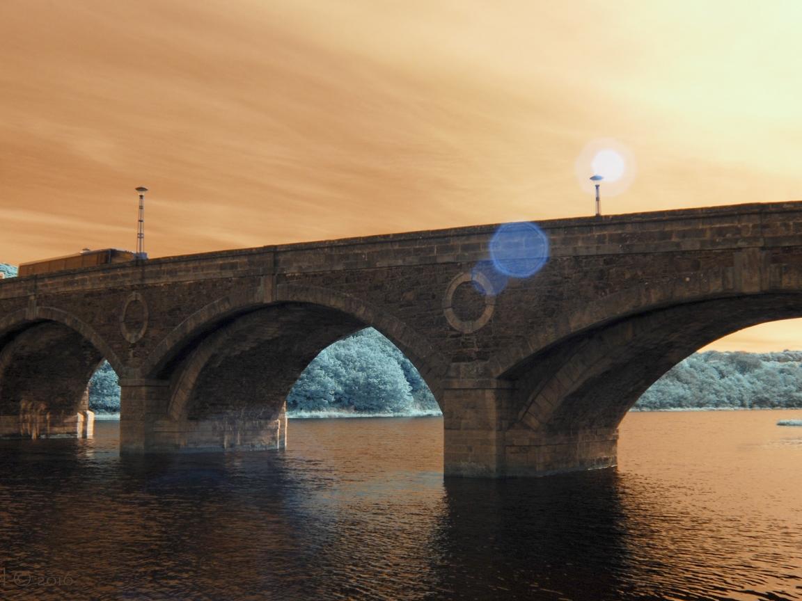 Puentes y puestas de sol - 1152x864