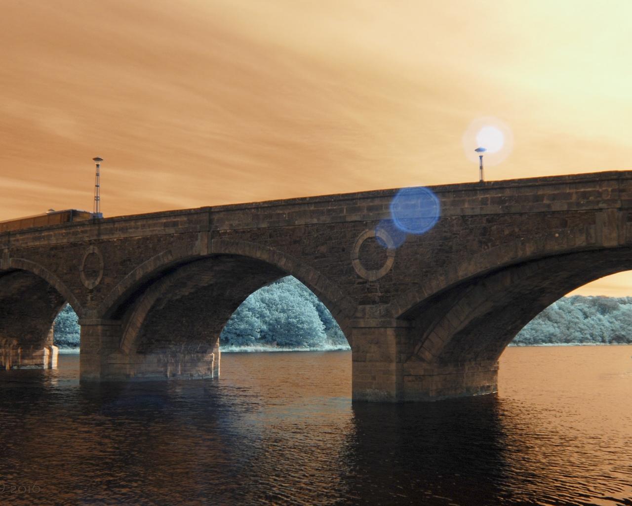 Puentes y puestas de sol - 1280x1024