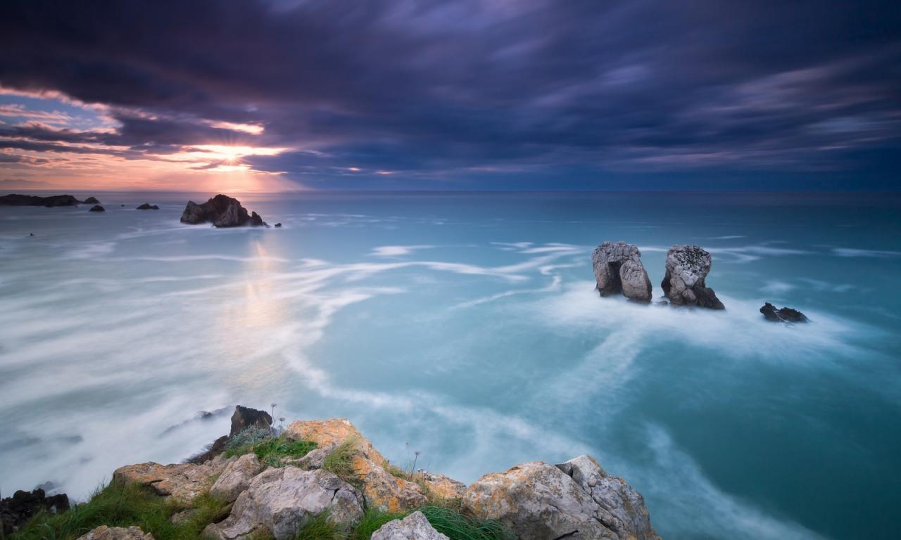 Un paisaje en la playa - 1280x768