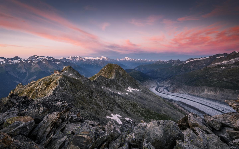 Montañas en los Alpes - 1440x900