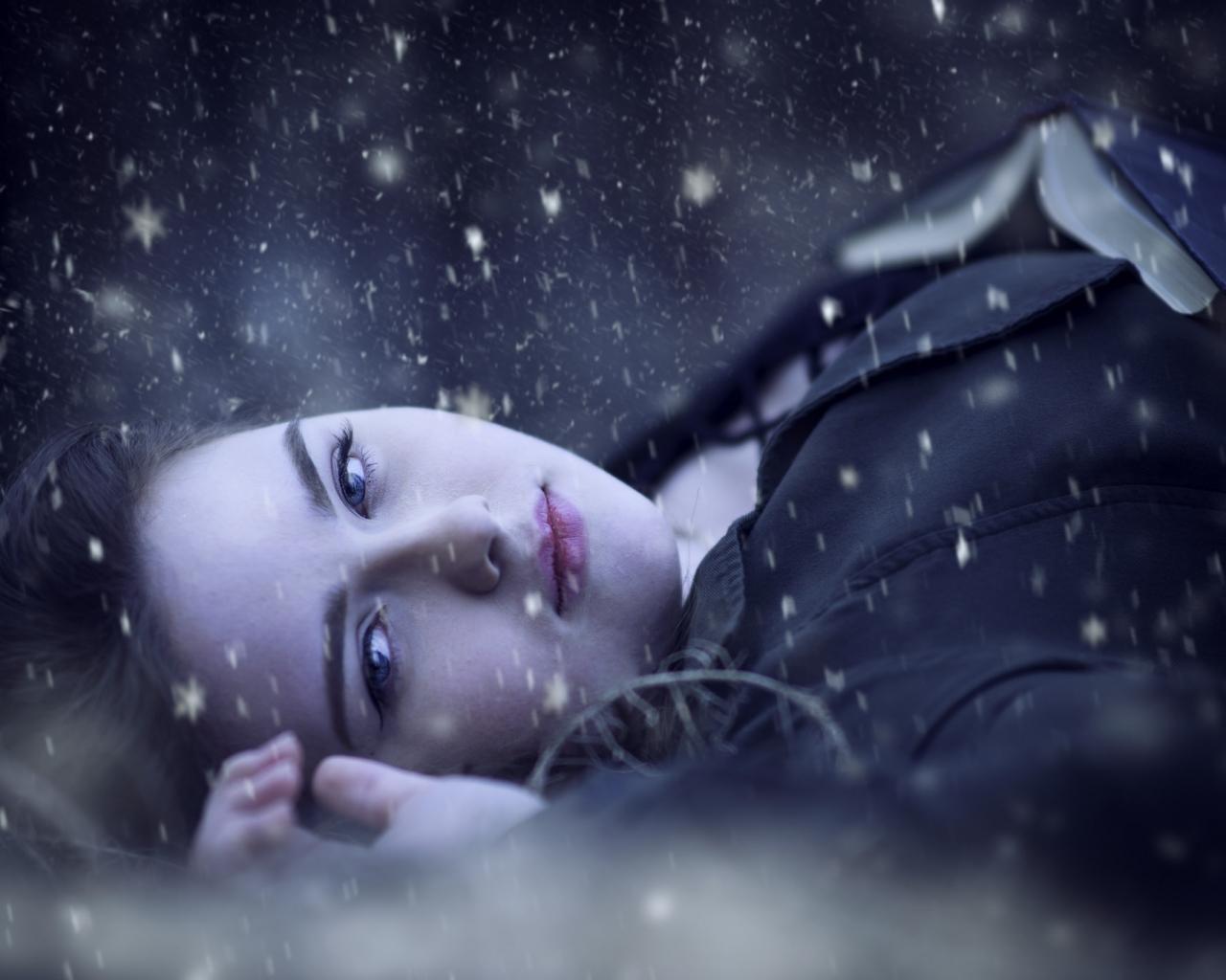 Retrato bajo la nieve - 1280x1024