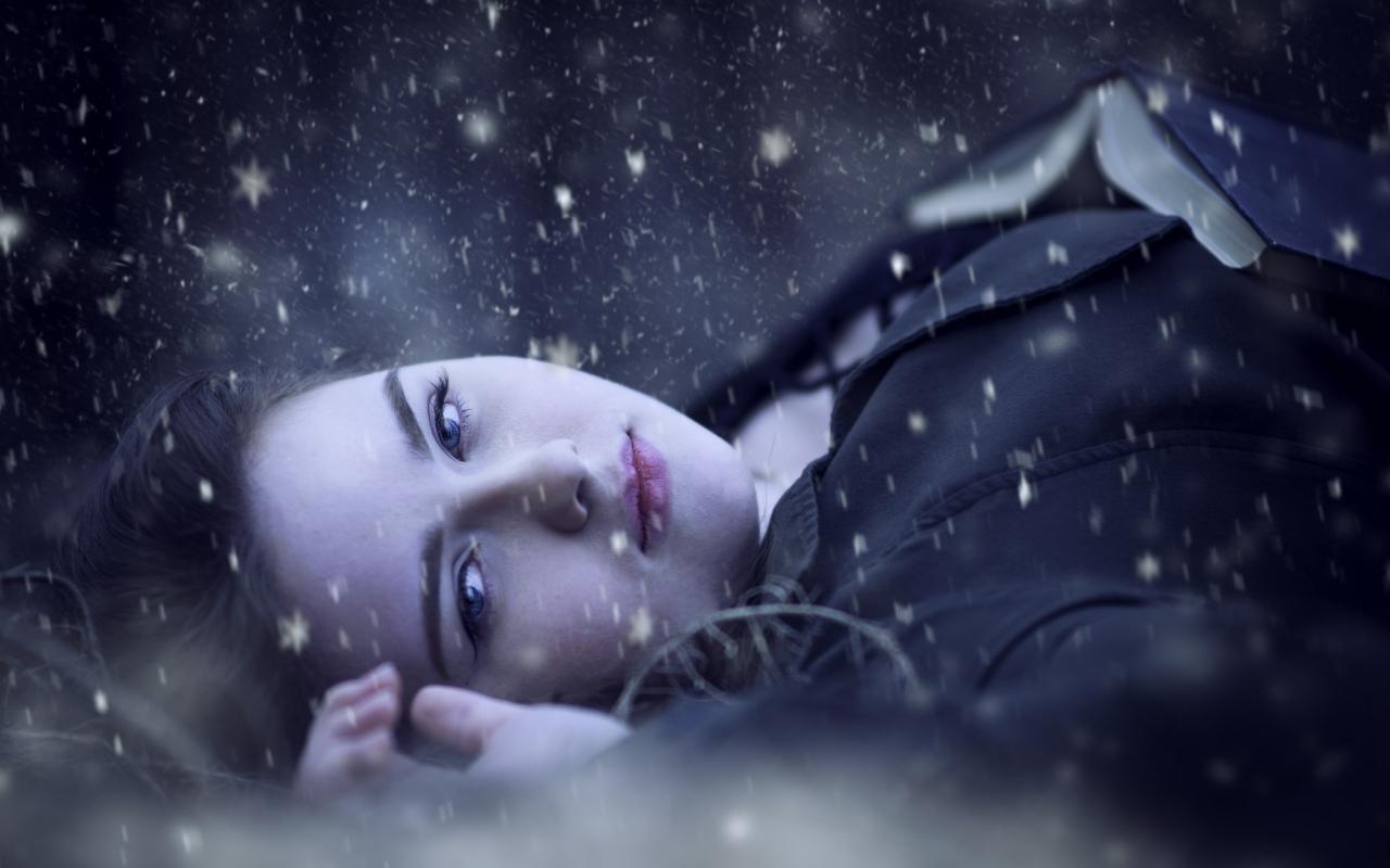 Retrato bajo la nieve - 1280x800