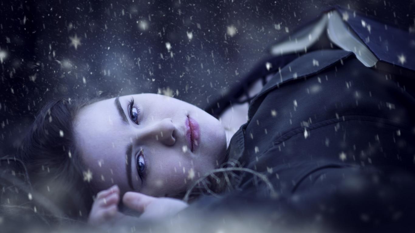 Retrato bajo la nieve - 1366x768
