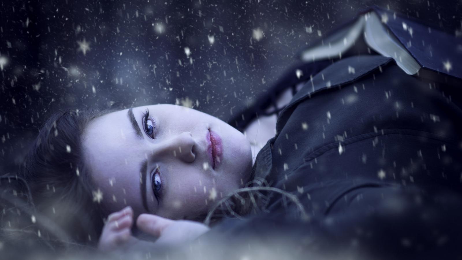 Retrato bajo la nieve - 1600x900