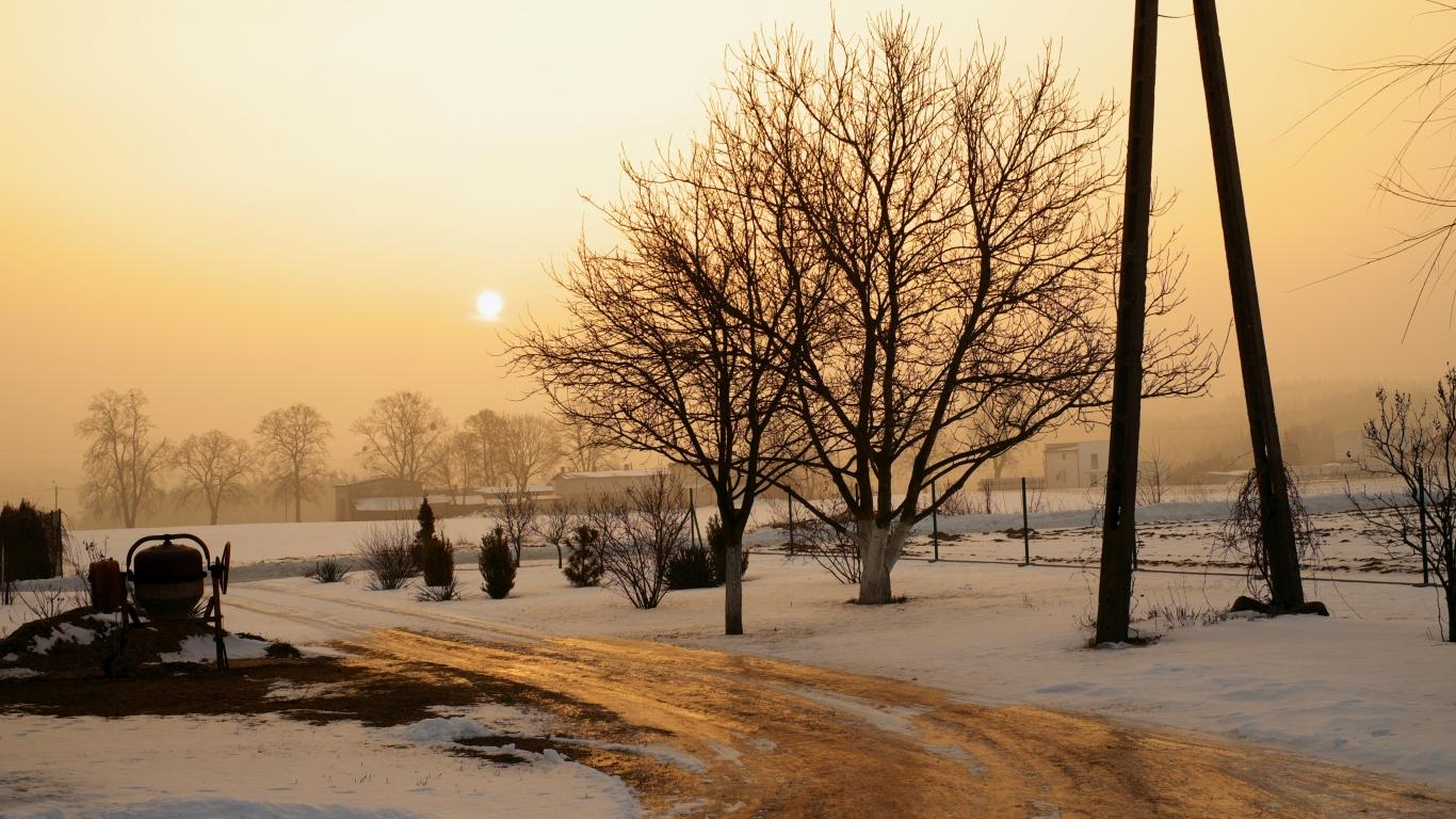 Una fotografía en la mañana - 1366x768