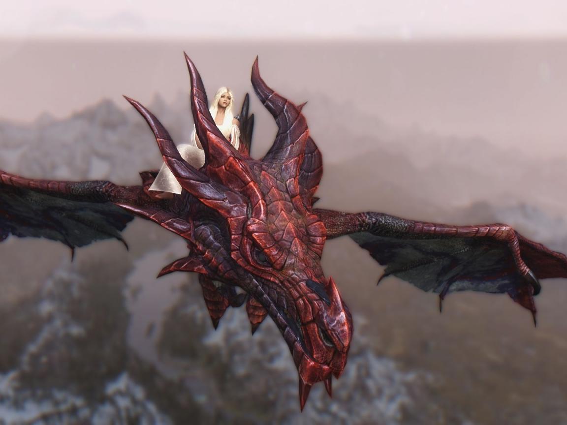 Daenerys y Drogon - 1152x864