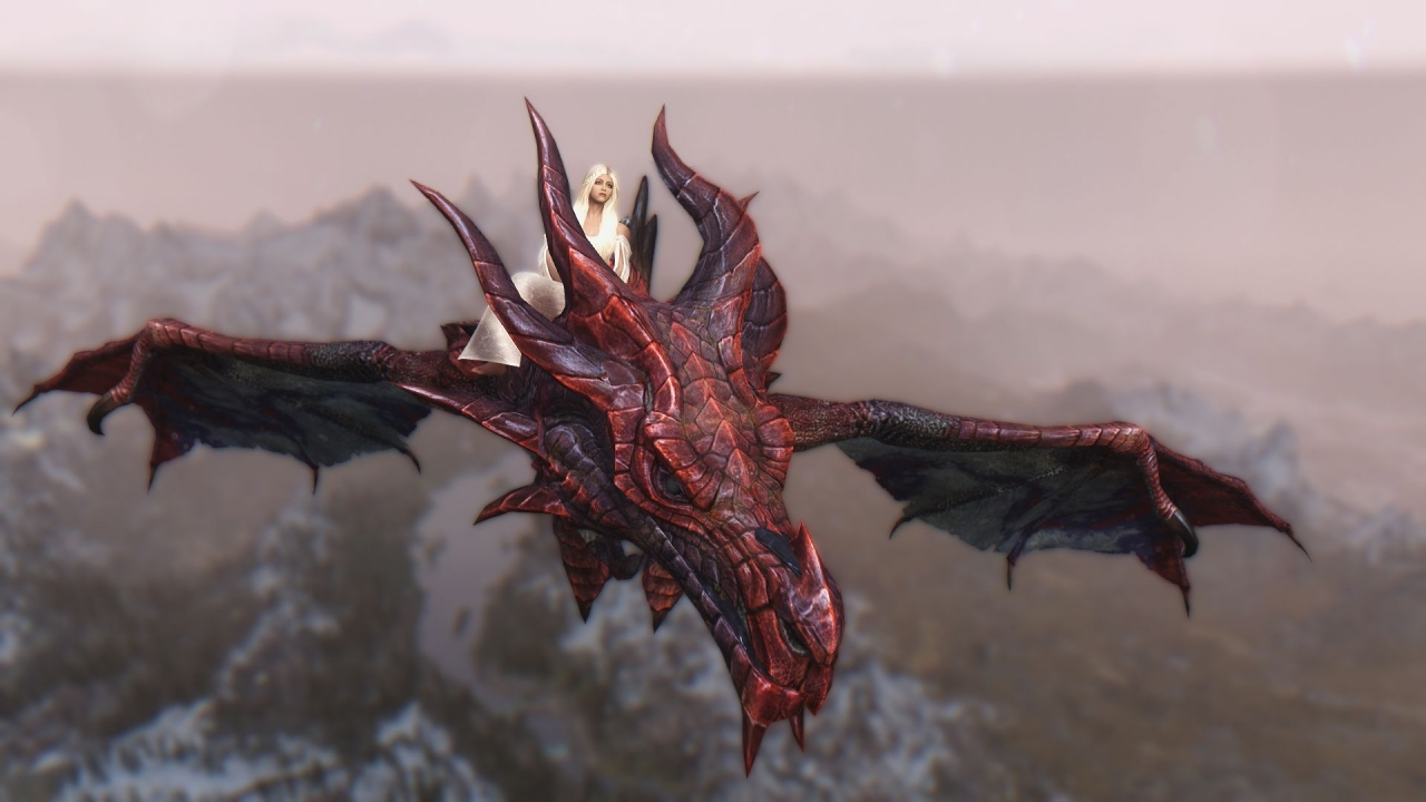 Daenerys y Drogon - 1280x720