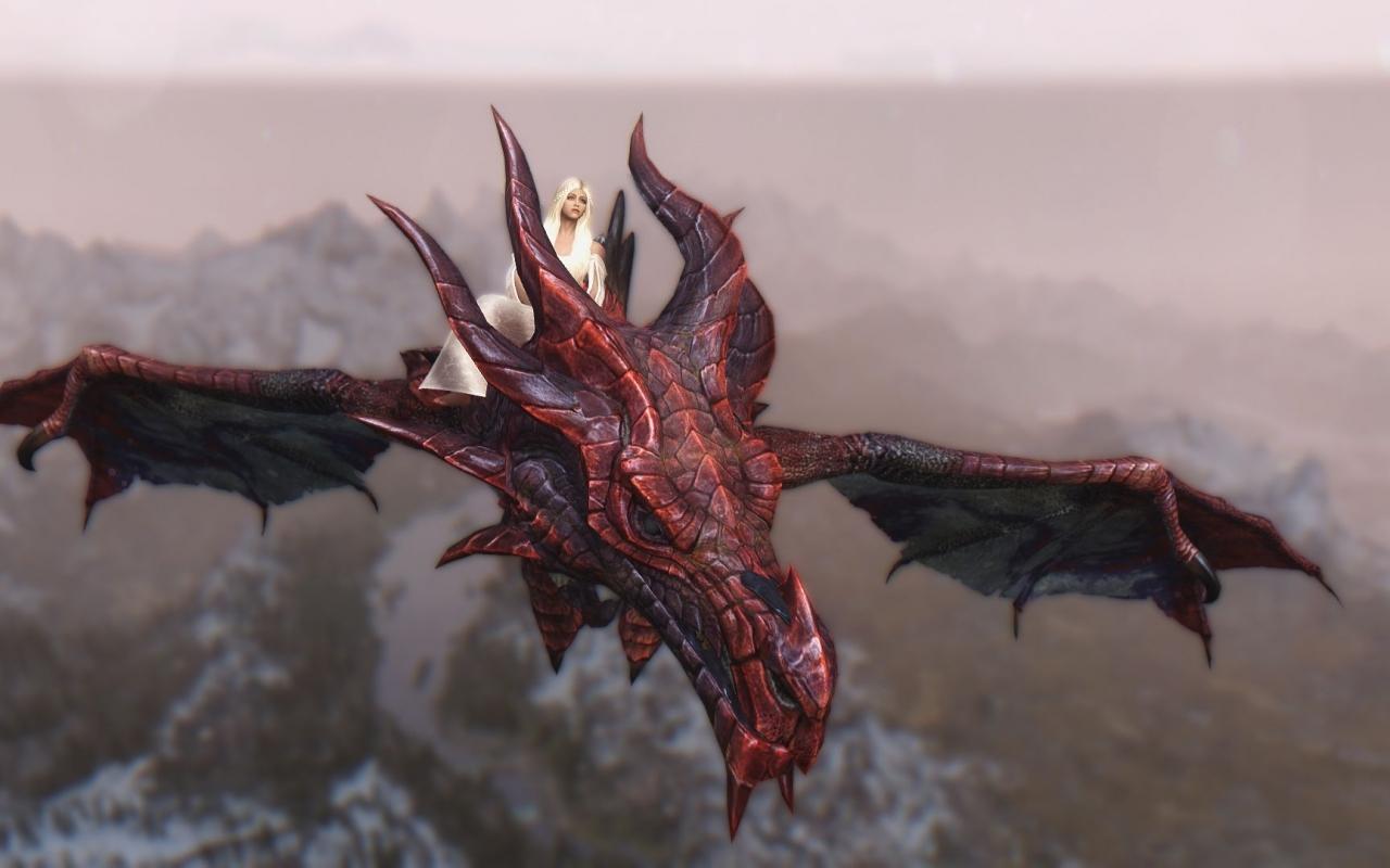 Daenerys y Drogon - 1280x800