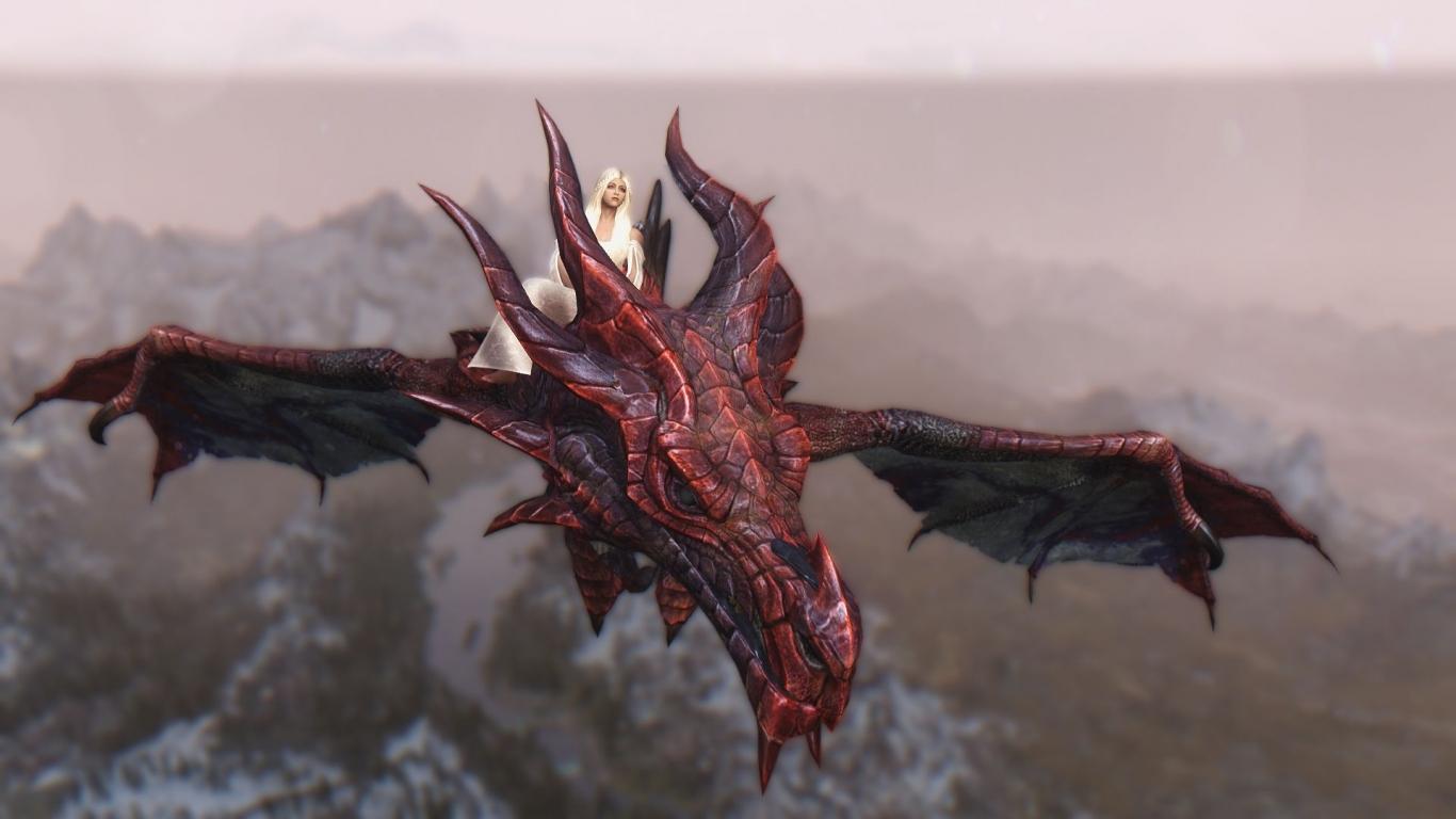 Daenerys y Drogon - 1366x768