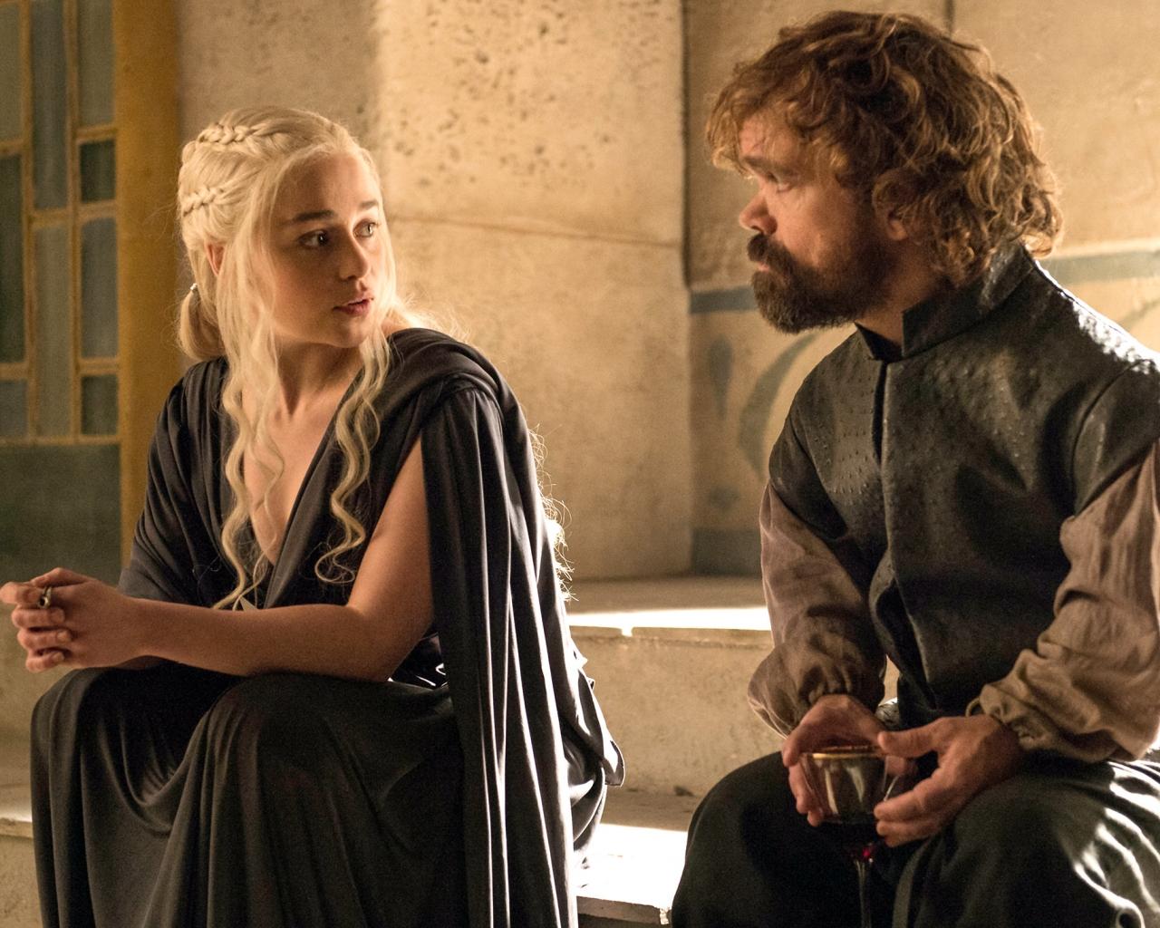 Daenerys y el bastardo - 1280x1024