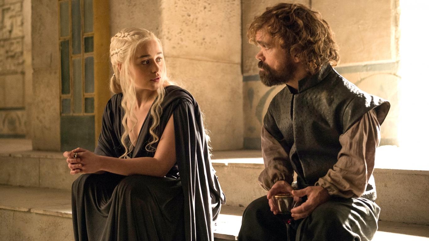Daenerys y el bastardo - 1366x768