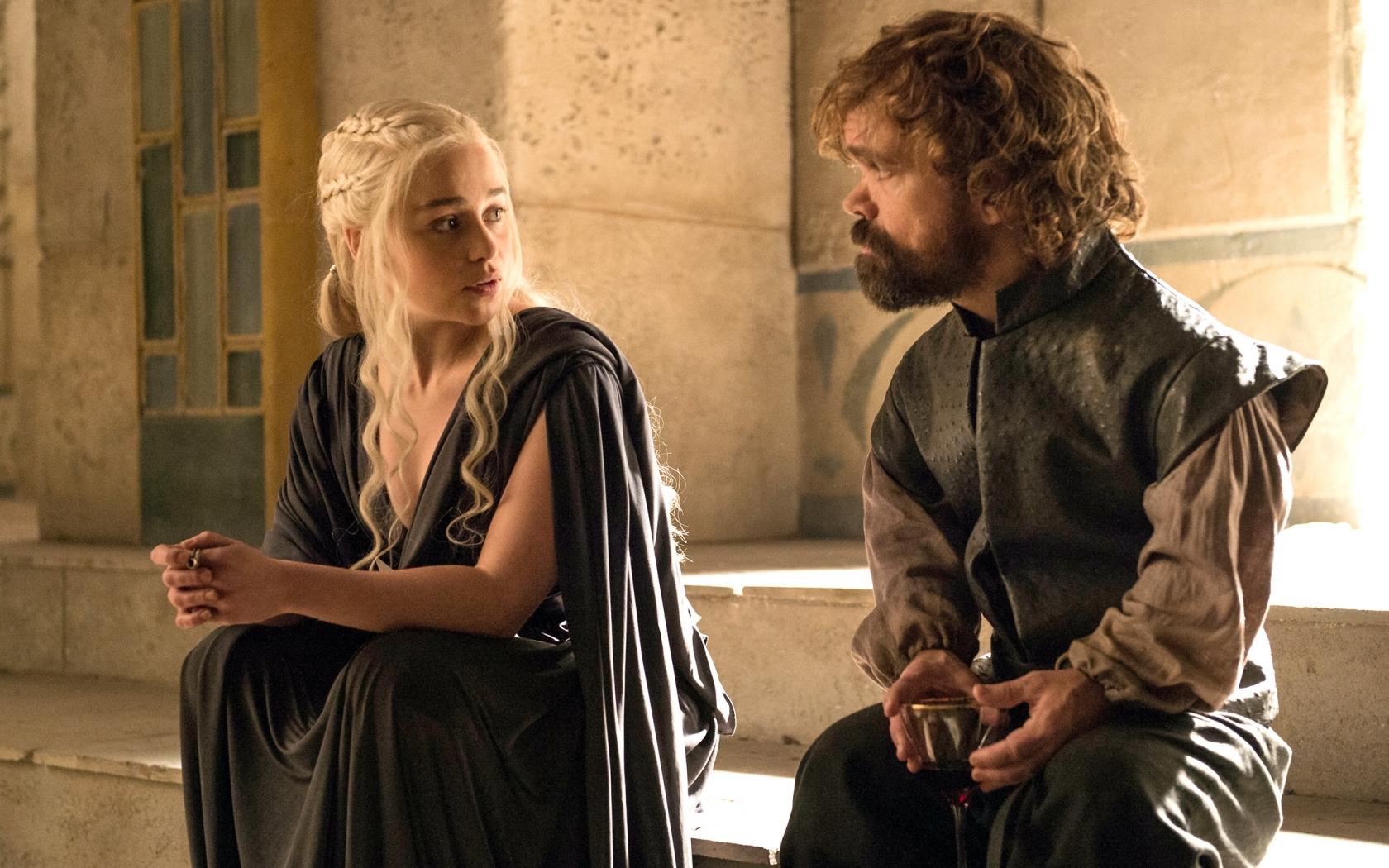 Daenerys y el bastardo - 1680x1050