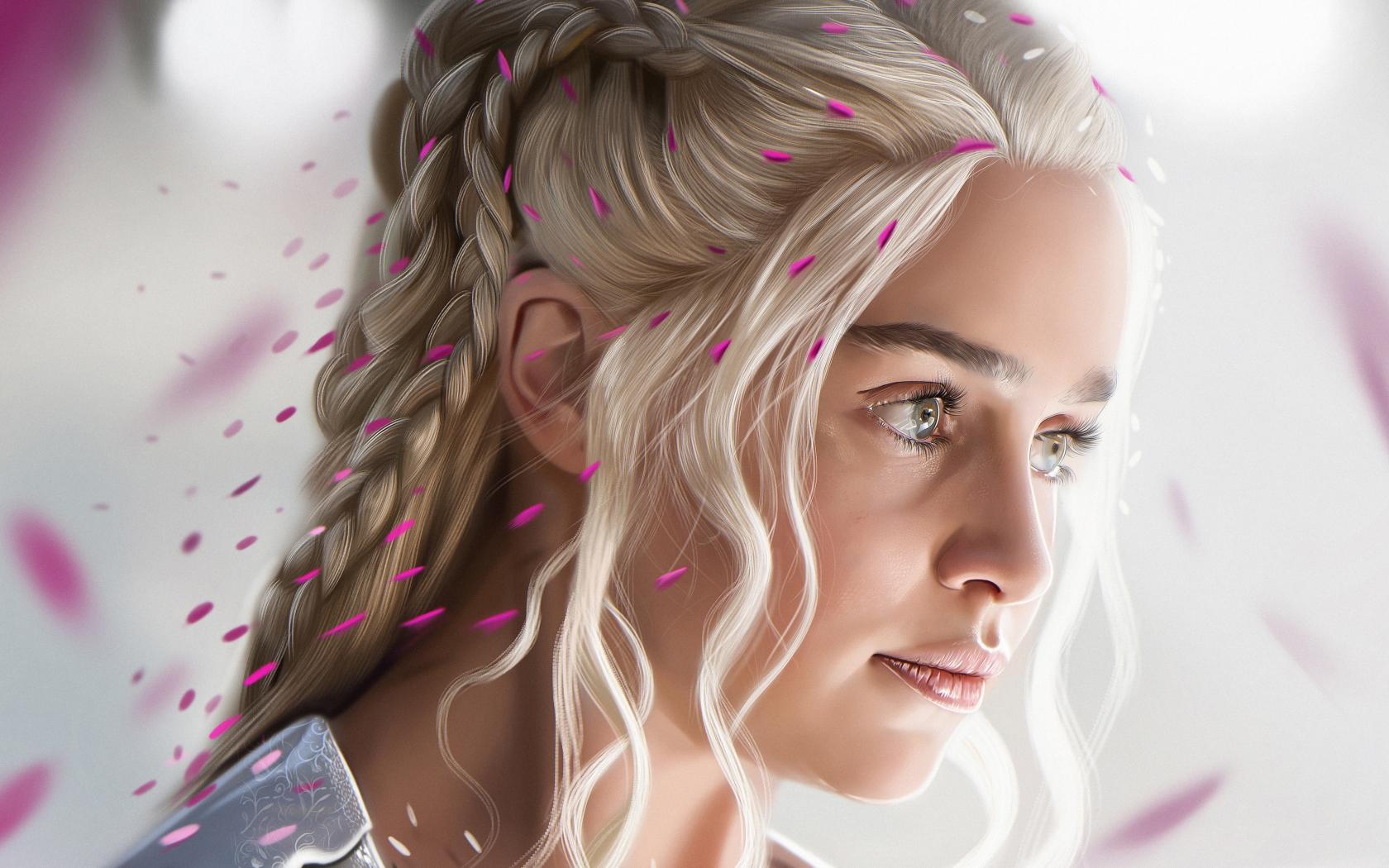El rostro de Daenerys Targaryan - 1680x1050