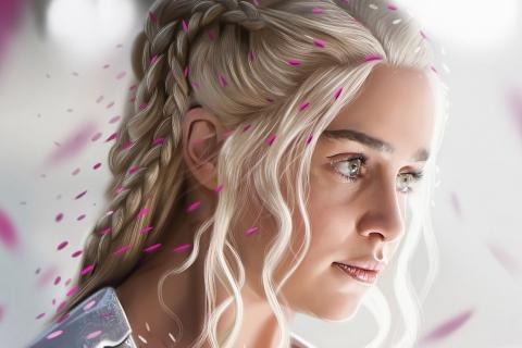 El rostro de Daenerys Targaryan - 480x320