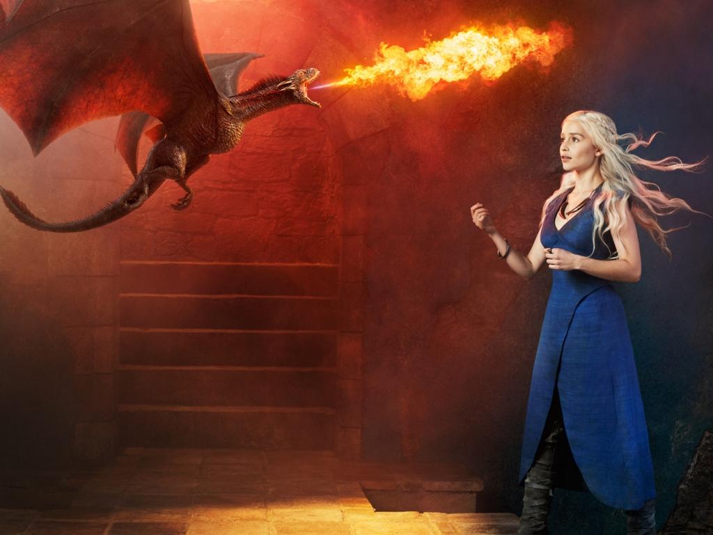 Emilia Clark es Daenerys - 1024x768