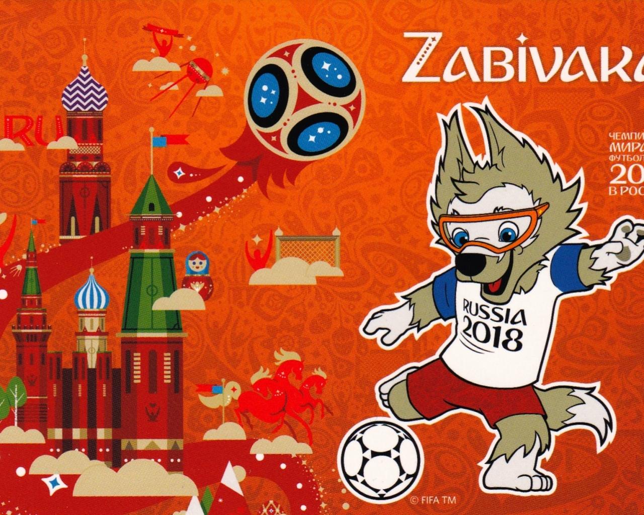 La Mascota del Mundial Rusia 2018 - 1280x1024