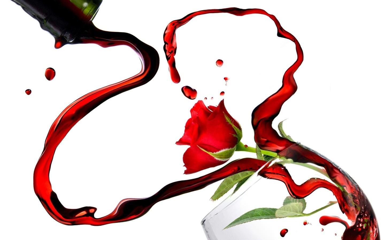 Rosas y vino por San Valentín - 1440x900