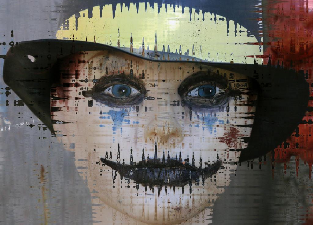 Rostro abstracto pinturas - 1024x738